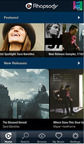 Rhapsody iOS Home Screen Featured Overview.  (PRNewsFoto/Rhapsody International)