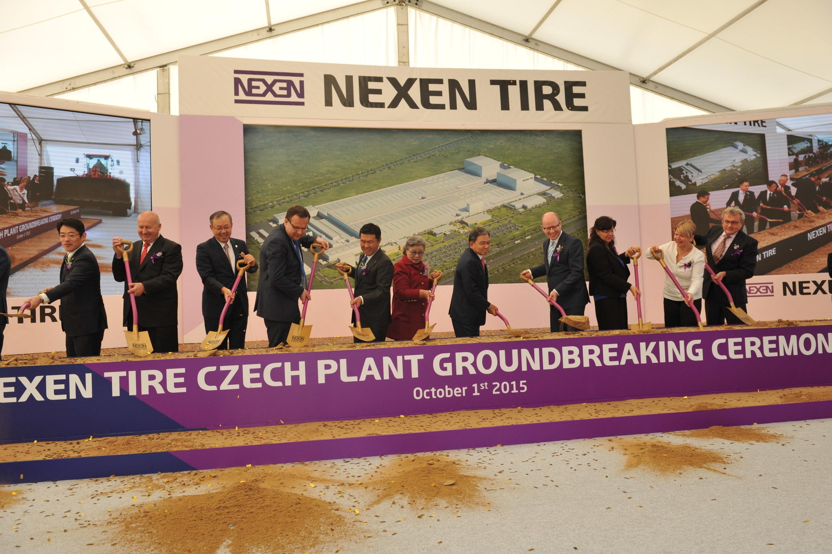 Nexen Tire celebra una ceremonia revolucionaria en su nueva planta de Zatec, República Checa