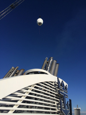 A set of new, custom-built antennae were shipped from Israel to Florida last month, and installed on Royal Caribbean International's Oasis of the Seas.  (PRNewsFoto/Royal Caribbean International)