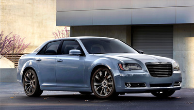 """The Chrysler 300 is the flagship of """"Imported From Detroit"""" style. And for the Spring of 2014, the Chrysler 300S has been updated with even more """"blacked out"""" design elements, a new Ambassador Blue sport interior to complement its world-class ride and handling, exclusive Beats by Dr. Dre audio system and state-of-the-art technology features - all to offer customers a combination of quality, distinct style and craftsmanship that could only be born in the Motor City.  (PRNewsFoto/Chrysler Group LLC)"""
