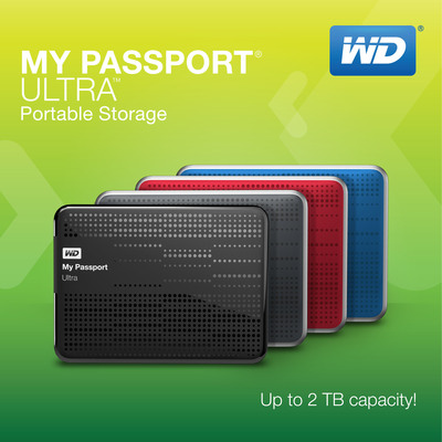 My Passport Ultra Portable Storage - Up to 2 TB of Capacity.  (PRNewsFoto/WD)