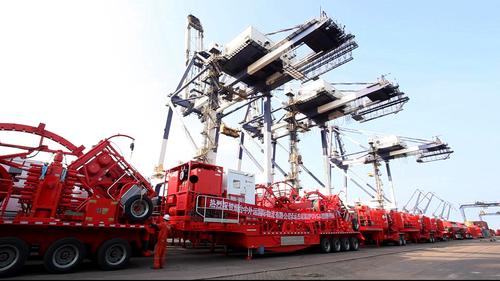 Jereh high-end equipment shipping to PDVSA, Venezuela (PRNewsFoto/Jereh Oilfield Services Group)