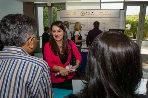 Job seeker meets with one of 27 recruiters at GIA's Jewelry Career Fair in Carlsbad, CA.  GIA's Jewelry  ...