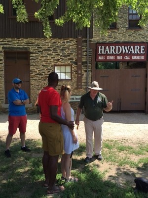 Located at the junction of the Potomac and Shenandoah rivers, Harpers Ferry once served as a United States armory and arsenal.