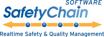 SafetyChain Software - Food Safety and Quality Assurance Enforcement inRealtime.  (PRNewsFoto/SafetyChain Software)