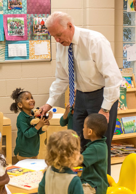 Vice President Biden visited the Early Learning Academy at the East Lake Family YMCA, a core program of the East Lake Foundation and member of the Purpose Built Communities network.