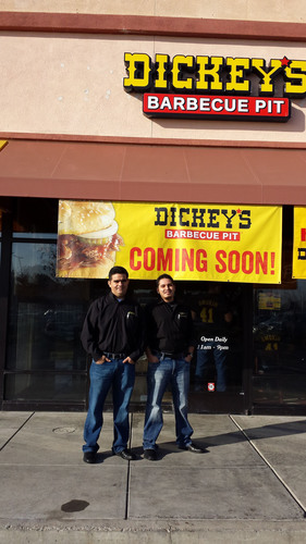 Owner/ Operators Rafael Armenta Jr. and Martin Lopez. (PRNewsFoto/Dickey's Barbecue) (PRNewsFoto/DICKEY'S BARBECUE)