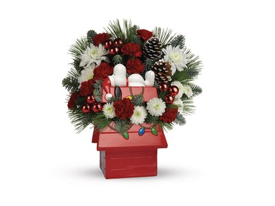NEW Snoopy Cookie Jar Bouquet by Teleflora