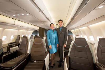 Hawaiian Airlines has unveiled its new Airbus A330 aircraft featuring fully lie-flat seating in a spacious Premium Cabin.