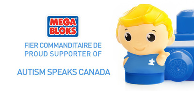 """Mega Bloks embarks on fourth consecutive year as presenting sponsor for Montreal's """"Walk Now for Autism Speaks"""" Canada"""