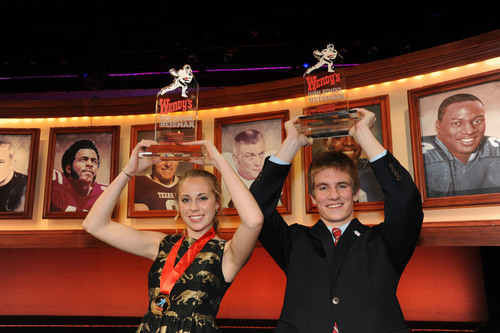 Wendy's High School Heisman honors National Winners Emily Granger of Easton, MD, and Andrew Miner of East ...