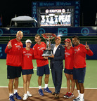 The Washington Kastles will keep the King Trophy in the nation's capital for another year after winning their third consecutive Mylan WTT Championship on Sunday. (PRNewsFoto/Washington Kastles, Kevin Koski)