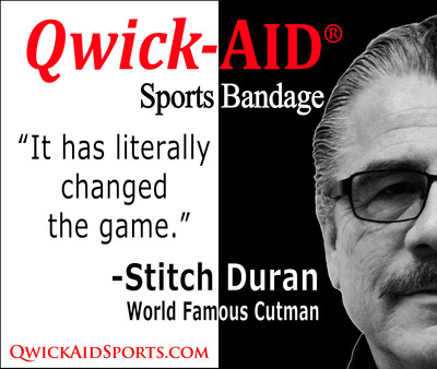 Stitch Duran endorses Qwick-AID Sports Bandages.