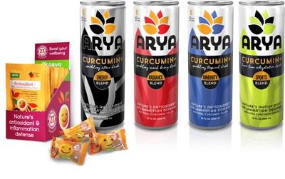 ARYA Curcumin+ Beverages and Gummy Chews