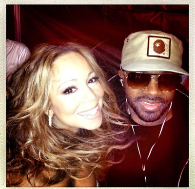 Mariah Carey and Jermaine Dupri.  (PRNewsFoto/PMK*BNC)