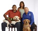 National Guide Dog Month Spokespersons Eva LaRue and Omar Miller along with Dick Van Patten of Dick Van Patten's Natural Balance Pet Foods.  (PRNewsFoto/Natural Balance Pet Foods, Inc.)