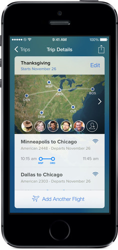 Redesigned version of FlightTrack for iOS and Android.  (PRNewsFoto/Mobiata)