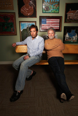 Joel Babbit (l), Chuck Leavell, Co-founders, Mother Nature Network.  (PRNewsFoto/Mother Nature Network)