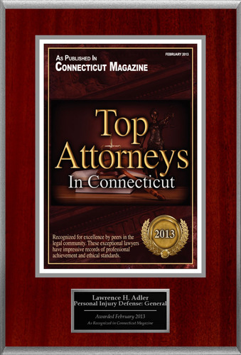 Attorney Lawrence H. Adler Selected for List of Top Rated Lawyers in CT.  (PRNewsFoto/American Registry)