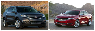 "With spacious cabins and easy-to-use tech features, the 2014 Chevy Traverse and Impala are among Kelley Blue Book's ""Best Family Cars"".  (PRNewsFoto/Harbin Automotive)"