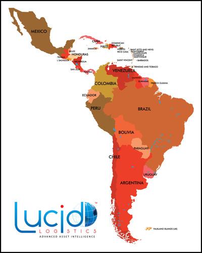 First secure all-satellite vehicle tracking solution with guaranteed message delivery available for Mexico and Latin America. / Primera solución 100% satelital de rastreo y seguimiento de activos con entrega garantizada de mensajes ahora disponible para México y América Latina. / Primeira solução segura de rastreamento de veículos totalmente por satélite com entrega de mensagem garantida está disponível para o México e América Latina. (PRNewsFoto/Lucid Logistics) (PRNewsFoto/LUCID LOGISTICS)