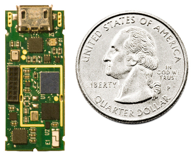 Figure 1: The SP-M310 module, the heart of the Tetra SDK, delivers a highly functional hardware and software solution in a small form factor to speed the wearables development process.