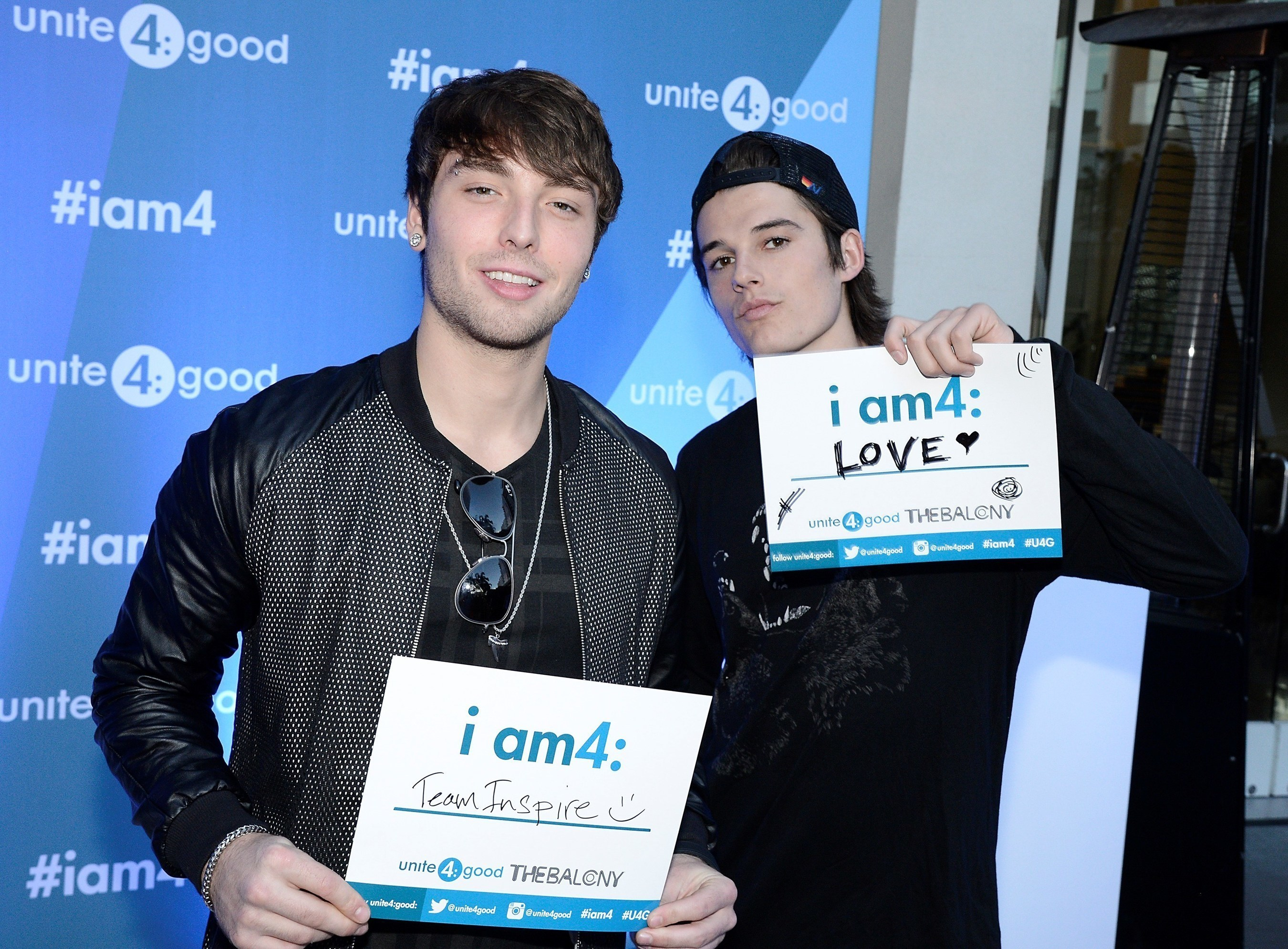 unite4:good's Global Youth Ambassadors Wesley Stromberg And Kenny Holland of THE BALCONY Kick Off First Social Good Initiative For 2015 - 2016