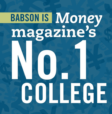 """Money magazine has named Babson the No. 1 college in America on its new list of Best Colleges, """"a new approach to ranking colleges that uses unique measures of educational quality, affordability, and career outcomes to help families find the right school at the right price."""" (PRNewsFoto/Babson College)"""