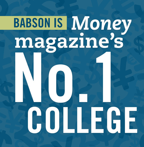"""Money magazine has named Babson the No. 1 college in America on its new list of Best Colleges, """"a new ..."""