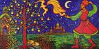 Ana Tzarev, Firebird, 2009, oil on linen, 78-1/4 x 154-1/2 inches.  (PRNewsFoto/Ana Tzarev Gallery)