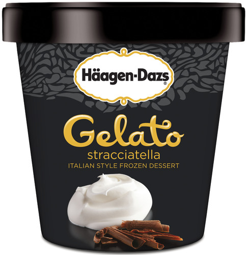 Stracciatella is one of the seven new Italian-inspired Haagen-Dazs(R) Gelato flavors.  (PRNewsFoto/The Haagen-Dazs Brand)