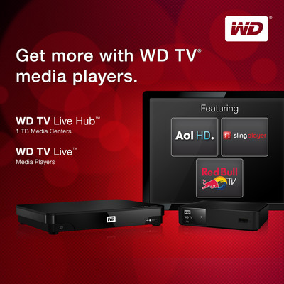 WD TV(R) Media Players Deliver The Most Worldwide Entertainment Options.  (PRNewsFoto/Western Digital Technologies)