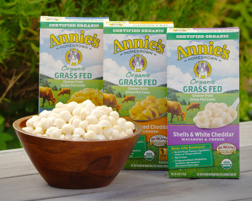 Annie's new Grass Fed Macaroni & Cheese (PRNewsFoto/Annie's, Inc.)