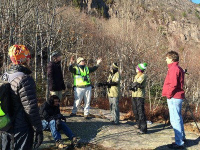 EMC employees work with Earthwatch and the Schoodic Institute at Acadia National Park on a citizen science project.