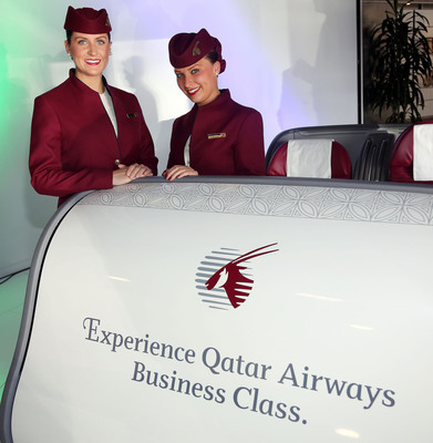 "QATAR AIRWAYS SHOWCASES THE ""WORLD'S BEST BUSINESS CLASS"" AT PRIMO CLASSICO BR'ITALIA IN CHICAGO.  (PRNewsFoto/Qatar Airways)"