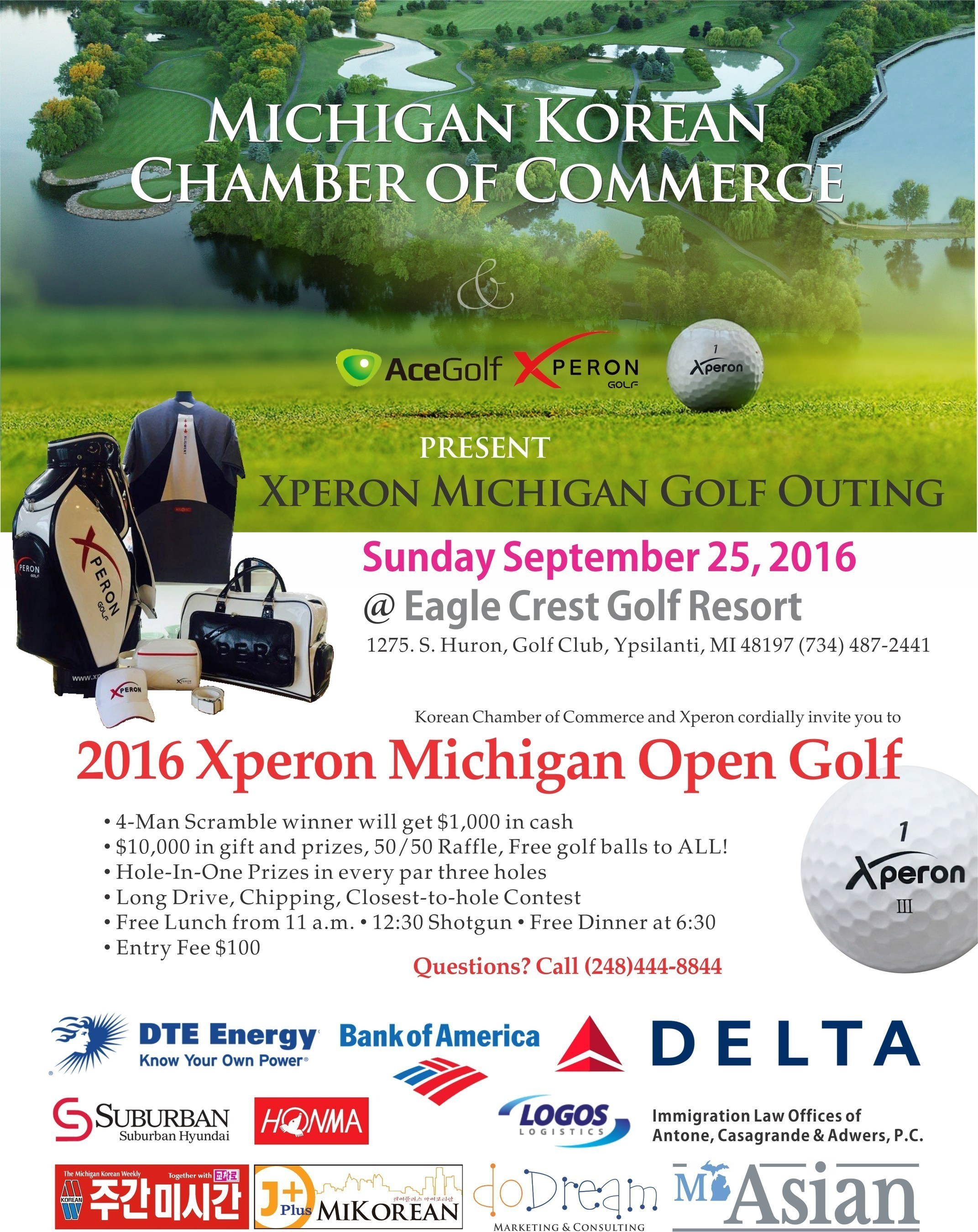 Get Ready for the 2016 Xperon Michigan Open Golf Event, Coming to Southeast Michigan This September