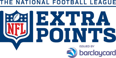 NFL Extra Points Card Issued by Barclaycard.  (PRNewsFoto/Barclaycard US)