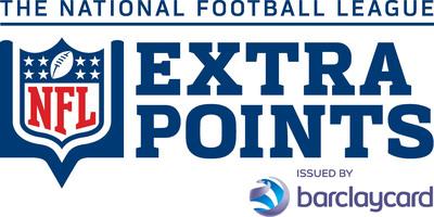 NFL Extra Points Card Issued by Barclaycard.  (PRNewsFoto/Barclaycard US)