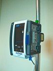 The AirPurge, Innovative Air Bubbles detection and Automatic removal System for use with Intravenous (IV) lines in the OR or PACU hospital environments. It can be used by itself or with Fluid Warmers. (PRNewsFoto/Anesthesia Safety Products)