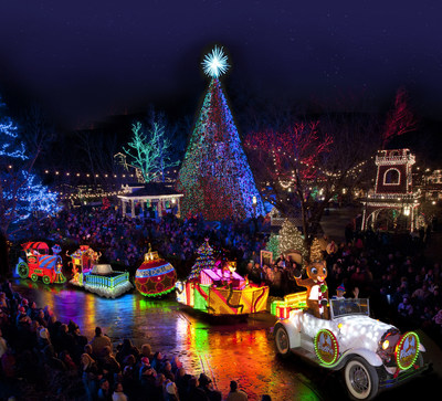 Silver Dollar City presents the new $1 million Rudolph's Holly Jolly(TM) Christmas Light Parade for its An Old Time Christmas festival, running through December 30 at the theme park in Branson, Mo.