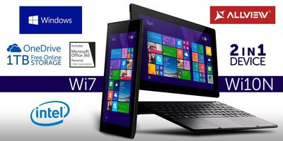 Allview WI7 and WI10N, two attractive devices with Windows 8.1 (PRNewsFoto/Allview Mobile)