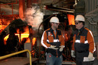 North Star BlueScope Steel is applying IBM Watson Internet of Things technology and wearable devices to pioneer novel approaches to help protect workers in extreme environments.  North Star is piloting the IBM Employee Wellness and Safety Solution to identify potentially problematic conditions by collecting data from various sensors that continuously monitor the worker's skin body temperature and other data. The solution then alerts North Star management so they can provide personalized safety guidelines to each individual employee. (Photo credit: North Star BlueScope Steel)