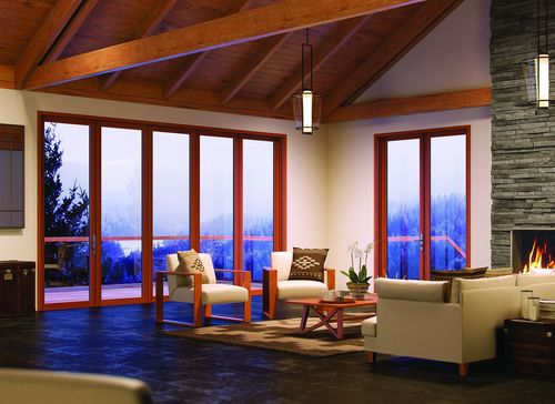 Centor Integrated Doors – a range of stunning new patio doors with built-in screens and shades that enable indoor/outdoor living, all day, all year round. (PRNewsFoto/Centor)