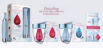 Connoisseurs Sonic Dazzle Stik Jewelry Cleansing Power Brush, Dazzle Drops Advanced Jewelry Cleaner, Dazzle Drops Silver Jewelry Cleaner, Diamond Dazzle Stik