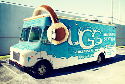 Hot cocoa and warm earmuffs available at the #uggtruck. (PRNewsFoto/UGG Australia) (PRNewsFoto/UGG AUSTRALIA)