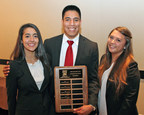 Rutgers Business School supply chain students Alexandra Preziosi, Dwight Gonzales and Sheryll Moser, all undergraduates, were the top winners in the International Supply Management case competition.