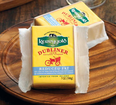 Kerrygold Reduced Fat Dubliner was named Best Reduced Fat Cheddar in Cooking Light magazine's third annual Taste Test Awards.   (PRNewsFoto/Kerrygold / Irish Dairy Board)