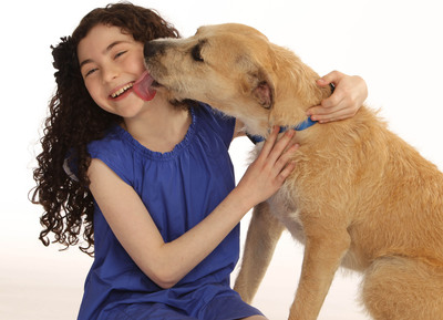 "Lilla Crawford, who plays the role of Annie and ""Sunny,"" who plays the role of Sandy, in the new Broadway production of ANNIE."