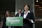 Premier Christy Clark speaking at Schneider Electric's MicroGrid Lab opening (PRNewsFoto/Schneider Electric)