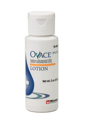 Mission Pharmacal Company launches new dermatology product, Ovace(R) Plus Lotion. (PRNewsFoto/Mission Pharmacal Company)